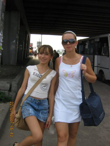 Я с младшой сестрой