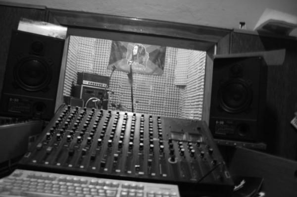 underground studio...