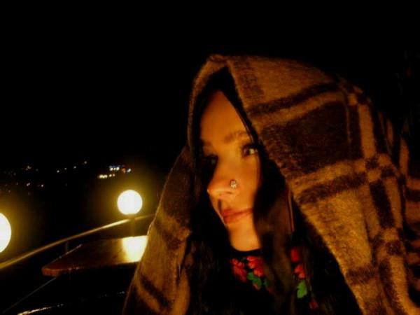 на пляже ночью:)