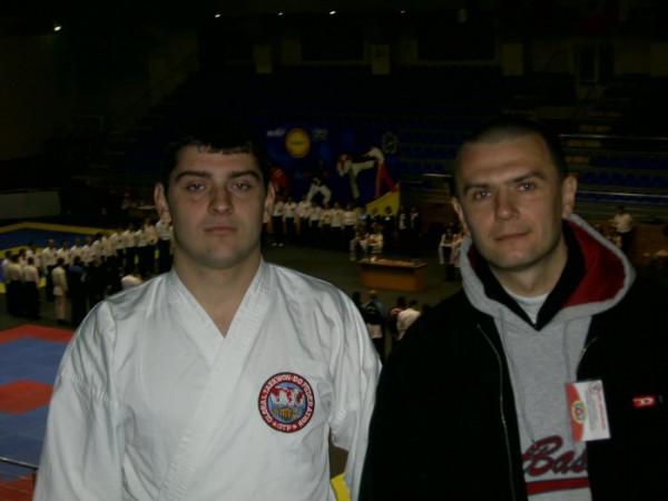 с учеником на чемпионате европы 2007