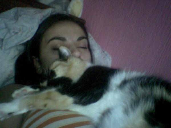я и моя киця...)