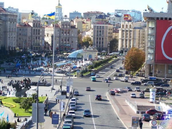 Вид на Майдан. Август 2007 г.