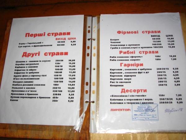 Гуцульское меню