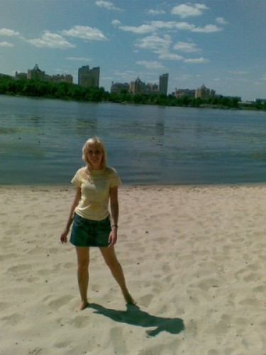 была на пляжике...сгорела попа))
