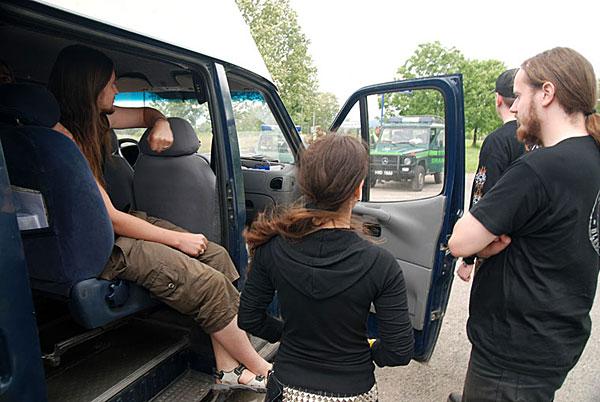 нас остановили стражи границы) Poland 21/06/2008