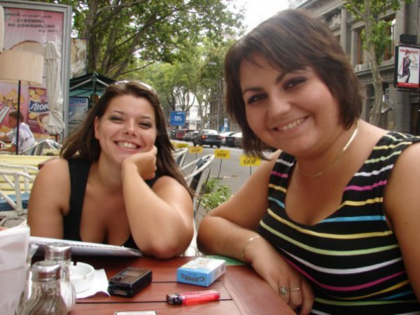с любимой Олечкой, друг&сотрудница