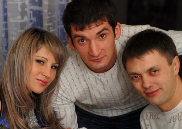 Я,  наш друг Макс и мой муж Саша)))