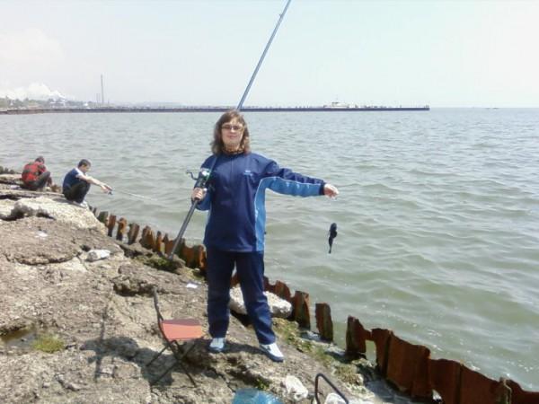 на рыбалке в Мариуполе