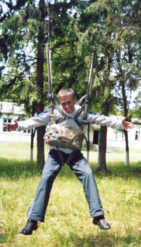 С парашутом хотел прыгать!!!