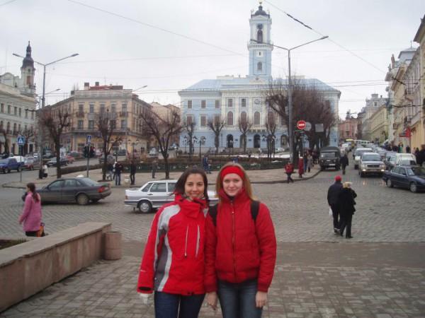 в центре Черновцов (эх, красивый город)