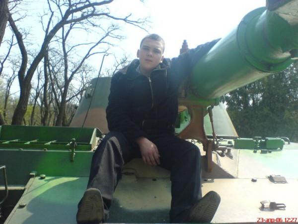 я  на танке