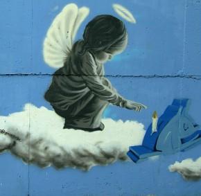 graffiti aniolek