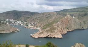 Вид на Балаклавскую бухту с береговой батареи