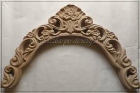 Элемент резного дивана - декоративная деталь