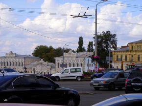 В центре города