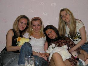 очередное бухалово...блонды vs брюны :))гы, Маргун)))