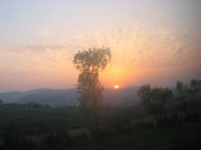 Закат в Карпатах..