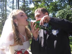 начинаем поить жену. :-)