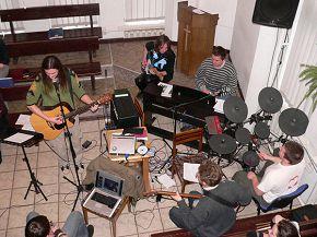 в церкви Благовестие Минск, Беларусь 10/02/2008