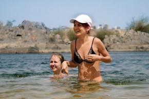 Купание в Ниле - а вода то, холоднючая %))