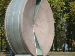 Песочные часы в Будапештепереварачиваются раз в год, на новый год