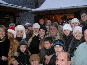 Я на зимних каникулах в Карпатах, этой зимой.