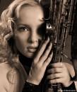 """Актриса Ксения. """"Этюд с саксофоном"""" Фотограф-художник А. Кривицкий. фототеатр А. Кривицкого"""