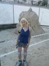 На роликах в песке