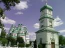 Троицкий собор в Новомосковске 18 век,выполнен в дереве.