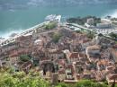Черногория, Котор, вид на Старый город из крепости