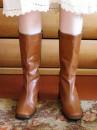 Новые осенние ботиночки (кожзам). Размер 38. Цена -50 грн.