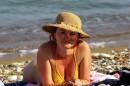на пляже Кипра