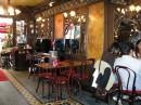 ресторанчик в стиле художника Альфонса Муха, там его картины и сам стиль ресторана
