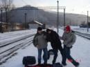 """Картина """"Дауны на железнодорожной станции"""" , угадайте где я :))"""