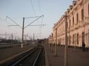 Вокзал ст. Казатин-1 при восходе солнца