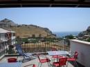 Судак, гостевой дом Фиалка, терраса на 4-м этаже.  Прекрасный вид на Генузэская крепость, море и горы Палван, Перчем, Ай-Георгий. Моб. тел.: +79788542308