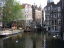 Амстердам. Дома на реке.