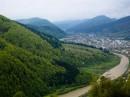 Вид с подъёмника горы Маковица (Межгорье, Закарпатская область)