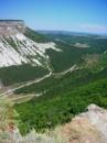 Вид на горы с Чуфут-Кале (Крым) возле Бахчисарая