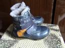 зимние кожаные ботинки на натуральном меху, 28 разм. Цена 90 грн.
