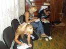 Б.5. Тестирование. На фото(слева направо): Долбина Е., Крюкова А., Чурсина А.