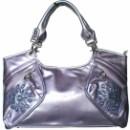 Отличная летняя сумочка с апликацией из камушков, выполненная из...