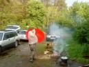 дождик не помеха, тем кто действительно хочет отдохнуть на природе!