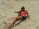 пассивный отдых на пляже,после активной субботней ночьки;)