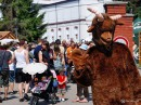 Козел - эмблема пивоварни, кстати, первый козел, проживавший на ее територии,  наш с вами соотечественник из Ужгорода
