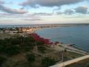 Вид на Межводное (поселок в Крыму на западном мысе Тарханкут) с колеса обозрения. Страаашно былои красиво: вечер, ветер и высота...