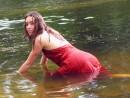 Съемка проводилась в реке, чтобы получить необычный ракурс. Часто людей в в воде фотографируют в купальниках, а мне захотелось попытаться пофантазировать и представить модель в воде и в одежде, которая...