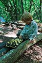 Гордей, 3,8 лет - 9 дней в летнем палаточном лагере возле поселка Терновка.