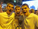 я с друзьями на благотворительном концерте группы Queen и Элтона Джона в Киеве