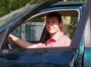 В машине , люблю кататся...